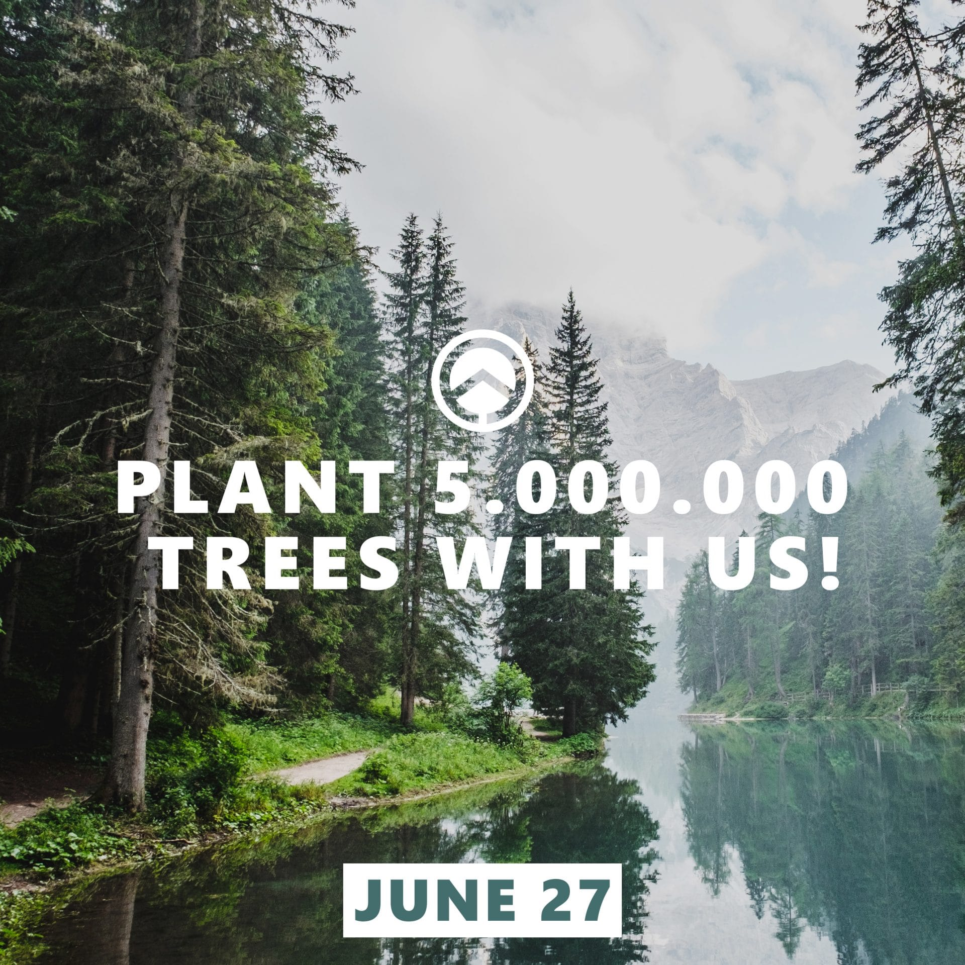 Plant 5000000 trees with us""""