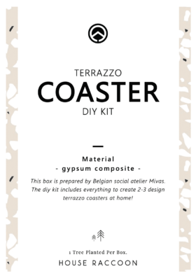 If you see this sticker on your DIY kit, then choose manual 'Terrazzo Coaster DIY Kit (with sticker)'.